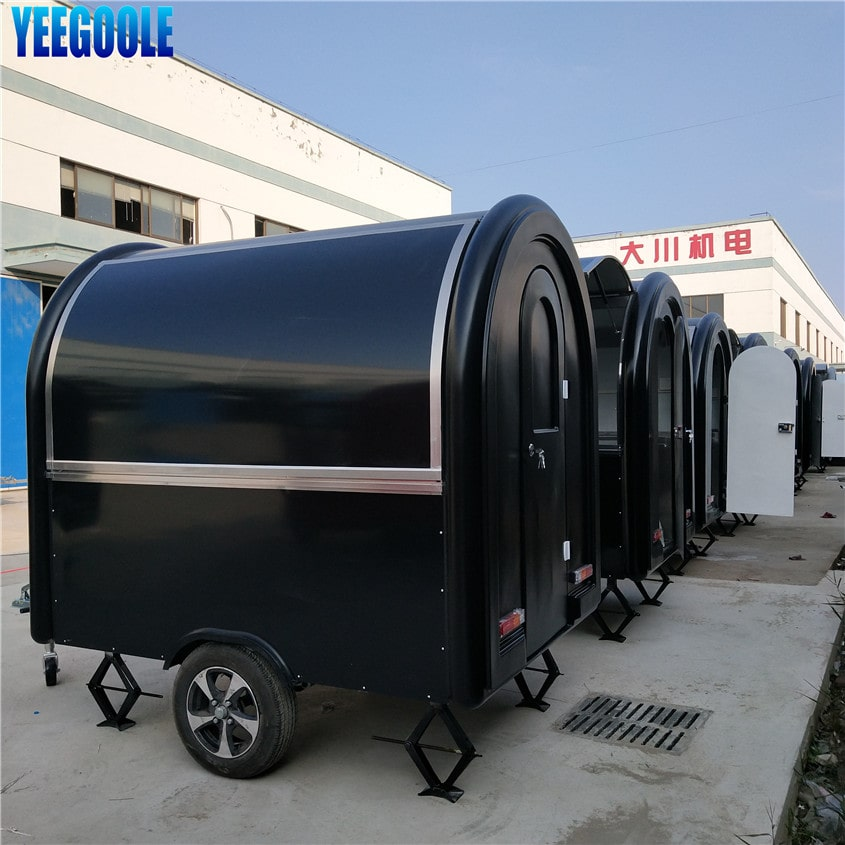 YG-LC-01S Yeegoole Stainless Steel Mobile Food Cart ,Mobile Hot Dog Carts,concession Trailer,towable Food Trailer for Sale