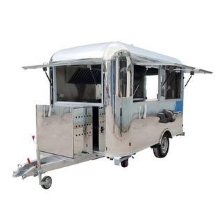 YG-TZ-66A Stainless Steel Coffee Trailer Pizza Truck Catering Food Trailers Mobile Food Truck