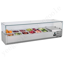 Desktop Salad Cabinet Fresh-keeping Cabinet Refrigerated Glass Cabinet