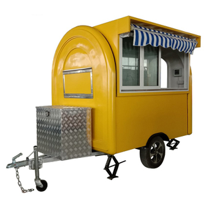 YG-LC-01S OEM Mobile Food Carts Food Van Caravan Fast Food Truck Push-pull sales window