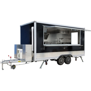 YG-FPR-04 New Street Food Vending Cart / Electric Food Truck / Hot Dog Ice Cream Hamburger Mobile Food Trailer Sale