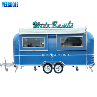 YG-TZ-66 Mobile Food Trailer Snack Machines Mobile Food Truck, Foodtuck Mobile Catering Trailers with Wheels