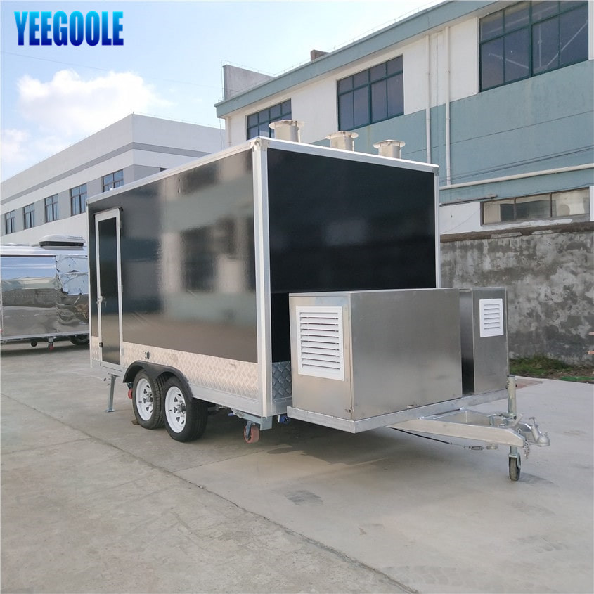 YG-FPR-04 On Sale Hot Dog Outdoor Food Cart/ Street Food Carts / Coffee Carts