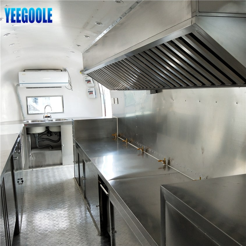 YG-TZ-66 mobile stainless steel food cart Mobile Hot Dog Carts,concession trailer,towable ice cream trailer for sale