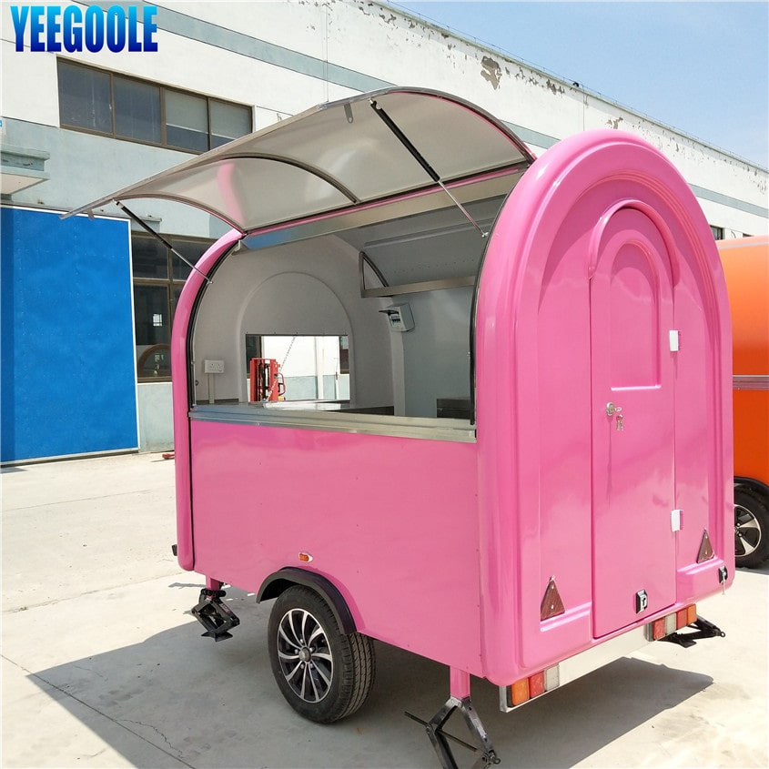YG-LC-01S Food kiosk Mobile Food Cart Fibreglass Mobile Cooking & Coffee Catering Van Trailer