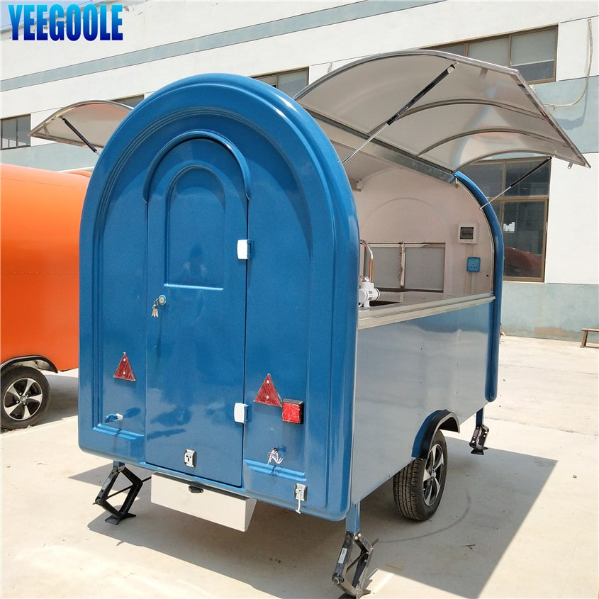 YG-LC-01S Mobile airstream hot dog cart fast food truck food truck trailer coffee vending food cart for sale in dubai