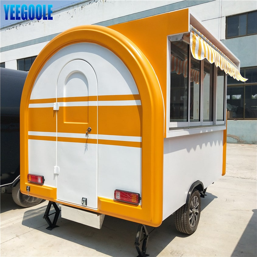 YG-LSS-01 Perfect After-sale Service Used Food Trucks for Sale in Germany European Union Mobile Food Cart Food Trailer CE