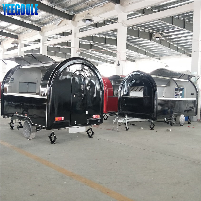 YG-LSS-02 Street Fast Food Trucks Mobile Food Trailer for Sale Breakfast Snack Ice Cream Shop